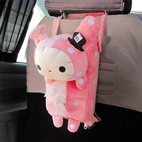 LanLan SoftCutePlush Rabbit Tissue Box Cover Car Accessories Home Decor