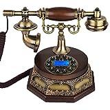 R&Y Retro Telefon Antikes Dekor Festnetztelefone - Schnurgebundene Telefone Knopfwahl, Klassischer Alter Stil Schreibtisch Telefon,Style 2