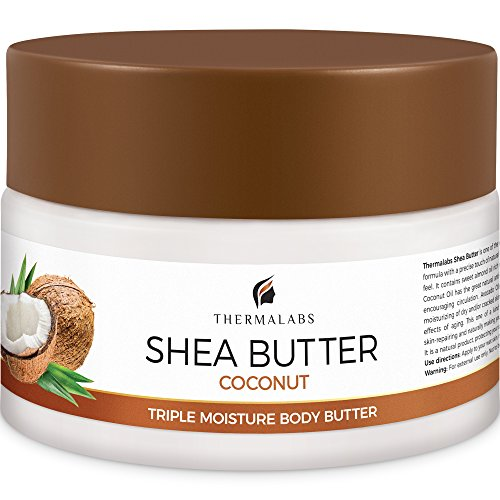 Shea Butter for Body 8.5 Oz, Stretch Marks Removal Cream: Feel Silky Smooth! Moisturizer for Dry Skin, Eczema Treatment, Pregnancy Belly Lotion with Natural & Organic Ingredients & Dead Sea Minerals
