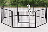 Dawoo metal pet fence folding 8 pieces (80X80CM black) (60X80)