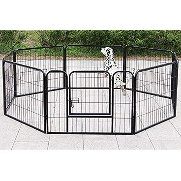 Dawoo metal pet fence folding 8 pieces (80X80CM black)