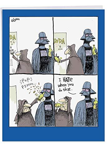 Star Wars Flaschenöffner Vatertag Humor Papier Karte 1 Jumbo Father's Day Card & Enve. (J0256FDG)