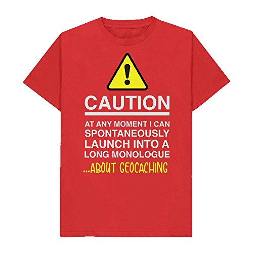 Caution - at Any Moment I Can Monologue About. Geocaching - Hobbies - Tshirt - Shaw T-Shirts - Sizes Small to 2XL