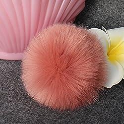 LUVERSCO Fur Fluffy Hat decoration, DIY Faux Fox Fur Fluffy Pompom Ball for Knitting Hat Hats crochet hat infant crochet hat