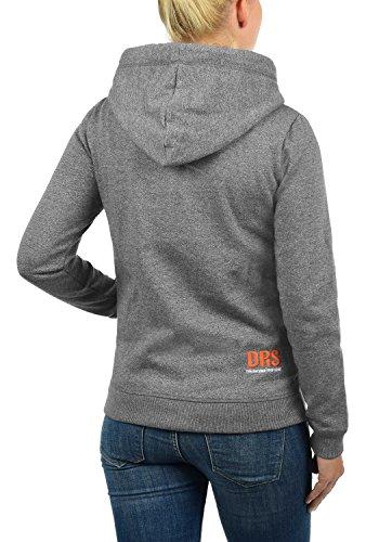DESIRES BennjaZipHoodie Damen Sweatjacke Kapuzen-Jacke Zip-Hoodie mit Fleece-Innenfutter aus hochwertiger Baumwollmischung Grey Melange (8236)
