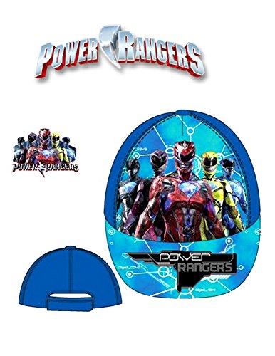 Image of Boys Kids OFFICIAL Various Superhero Character Power Ranger Baseball Caps Summer Hat Size 52cms (Age 2-4) 54cms (Age 4-8) (54 cms (Ages 4-8), Blue Baseball Cap)