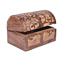 storeindya Beautifully Hand Carved Wooden Keepsake Box Jewellery Chest Organiser Box - Trinket Jewellery Box Christmas Thanksgiving Gift (Tree of Life Design)