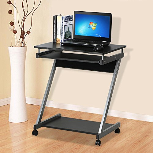 tinkertonk-z-shaped-computer-desk-with-sliding-keyboard-4-wheels-pc-table-movable-portable-trolley-s