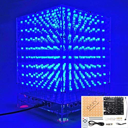 Straightforward 3d 8x8x8 Square Diy Led Blue Cubes Kit Mp3 Music Spectrum Cubes Beads Bag Circuits