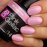 Pink Gellac Gel-Nagellack Shellac, Blossom Kollektion 15ml UV Nagellack farbiger Nagellack Nagellackfarben (184 Rosy Pink)
