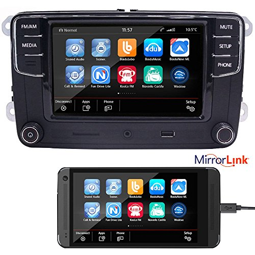 6,5' Autoradio de voiture radio Rcd330g + Mirrorlink, Bluetooth,USB, AUX, SD,RVC,pour VW Golf, Caddy, Passat, CC, Tiguan