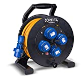 ENECEN 2033225 Kabeltrommel XREEL 230V/16A K2 IP68 PUR H07BQ-F 3x2,5mm² orange druckwasserdicht 25m