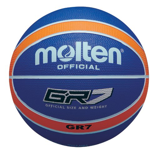 Molten BGR Ballon de Basketball coloré, Color- Orange/Blue