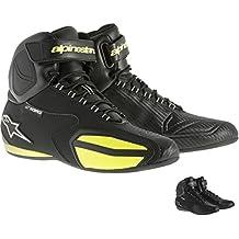 Zapatillas alta impermeable para moto Alpinestars Faster WP anatómica.