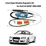 KKmoon KKmoon Cavo Rullo Corredo di Regolatore di Riparazione per Finestra Anteriore Destro per Audi A4 B6/B7 2000-2008
