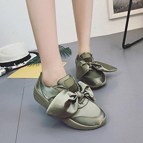 De De Fraun nó Curva Verde Primavera Overdose Senhoras Sandálias Sapatos Exército Verão Seda Apartamentos Rodada Curva Alpercatas qxg48P