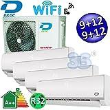 Climatizzatore inverter quadri split FROZEN R32 9000+9000+12000+12000 Btu DILOC classe A++/A+ funzione smart WIFI