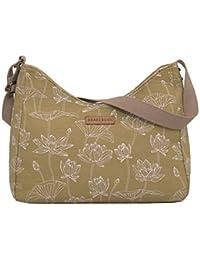 Brakeburn Daisy Design Ladies Hobo Style Hand Bag in Green