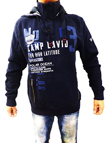 CAMP DAVID HERREN SWEATSHIRT HOODED ICEBREAKER 11 DARK NAVY L