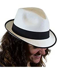 Traditional Panama hat with a difference:variety of colours, different brim and a range of sizes.