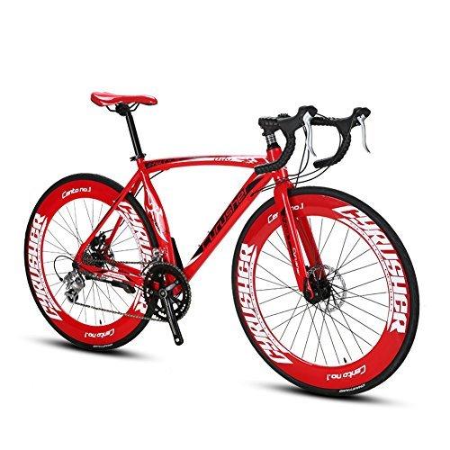 UK Lieferung extrbici XC700 Sports Racing Road Bike 700Cx54/56cm Aluminium Legierung Rahmen 16 Speed Shimano 2300 Mans Road Bike Double Mechanische Scheibenbremsen cyrusher beliebtes Modische Rahmen Malerei