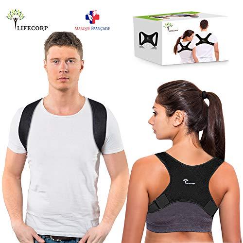 LIFECORP Correcteur de Posture - Corset de Soutien du Haut du Dos pour Homme et Femme - Support Discret des Épaules, Cou et...