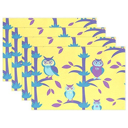 n Platzsets hitzebeständig waschbar Table Mats 30,5x 45,7cm Platzdeckchen für Familie Küche Hotel Coffee Shop Essen Restaurant, Polyester, 1, 12 x 18 inch (Niedlich Billige Halloween-dekoration)