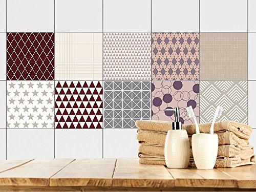 Graz Design Fliesenaufkleber Badezimmer Und Küche | Retro  Vintage Muster |  Braun   Beige