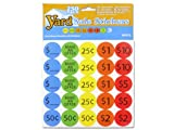 Bulk Buys yard sale Pricing stickers, multicolore (OP313)