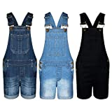 A2Z 4 Kids® Kids Girls Dungaree Shorts Denim Stretch Jeans Jumpsuit Playsuit All in One Age 5 6 7 8 9 10 11 12 13 Years