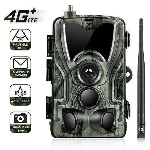 4G Caméra de Chasse 16MP 1080P HD Trail Camera IP66 Étanche Vision Nocturne 90ft / 27m 940nm LED...