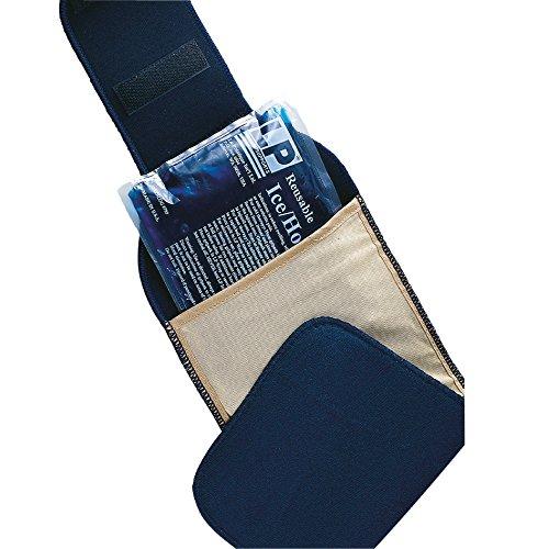 LP Support Erste-Hilfe-Kälte-/Wärme-Set - Fixierungsgurt + Heiß-Kalt-Packung - Kühl-Bandage - Drei-in-Eins Wärme-/Kühl-Set für Sportverletzungen, Größe:Universalgröße