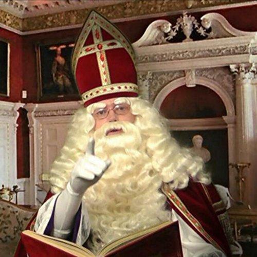 Weihnachtsmann / Nikolaus Perücke und Bart Set - Deluxe Kostüm Bart Und Perücke Set