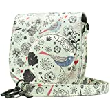 Brappo PU Leather Case Bag For Instax Mini 8/8+/9 Camera With Adjustable Shoulder Strap (Froest)