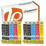Bubprint 10 Druckerpatronen kompatibel für Epson T1281 - T1284 für Stylus S22 SX125 SX130 SX230 SX235W SX420W SX425W SX430W SX435W SX440W SX445W