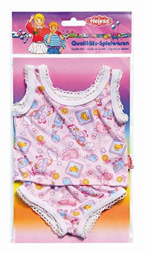 Heless 410 Unterwäsche für Puppen, Größe 35 - 45cm, 2 teilig