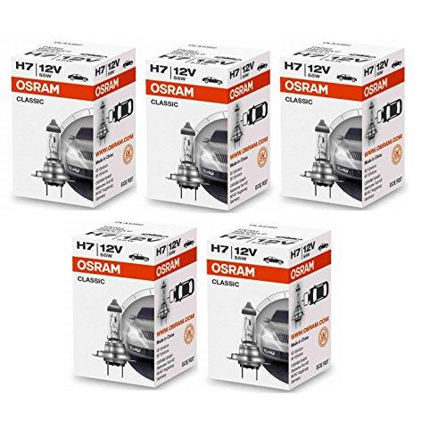 5 Stück Osram Classic 12V 55W PX26d Autolampen Abblendlicht