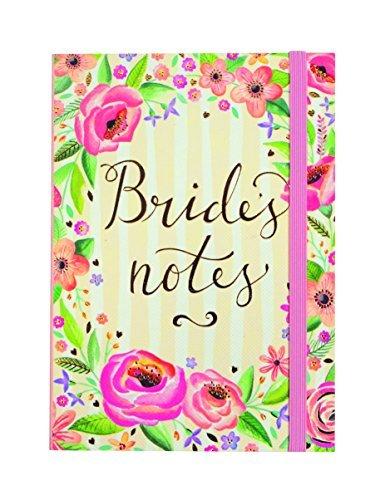 Rachel Ellen Notes-Floreale da Sposa-Taccuino Formato A6per Il Trasporto in Borsa.-Matches The Wedding Planner, Multicolore