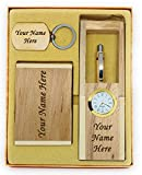 #8: Personalised Ball Pen, Pen Holder, Keychain and Card Holder Set with your Name Engraved on it