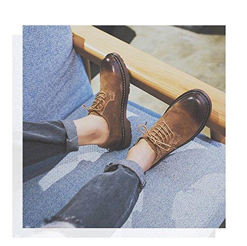 HL-PYL-Martin scarpe scarpe retrò All-Match nuovo Low boots. brown