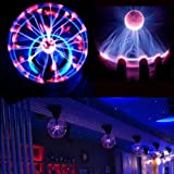 New Hot Magic USB Sphere Lightning Lamp Light Party Black Base Glass Plasma Ball available at Amazon for Rs.4853
