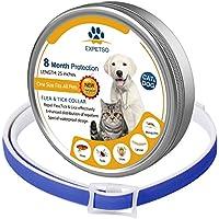 EXPETSO 2018 Fórmula Mejorada 8 Meses de Protección Flea & Tick Collar para Perros y Gatos 60 cm Longitud Ajustable se Adapta a la Mayoría de Mascotas Azules