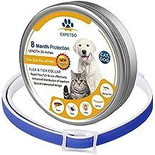 EXPETSO 2018 Fórmula Mejorada 8 Meses de Protección Flea & Tick Collar para Perros y Gatos