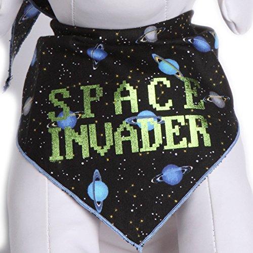 Invader Space Kostüm - Schwanz Trends Hund Bandanas Space Invader Retro Spiele Design Passt die Meisten Mittelgroße bis Große Hunde, Medium, Space Invader