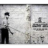 murando - Fototapete 400x280 cm - Vlies Tapete - Moderne Wanddeko - Design Tapete - Wandtapete - Wand Dekoration - Banksy Graffiti Streetart h-A-0042-a-a