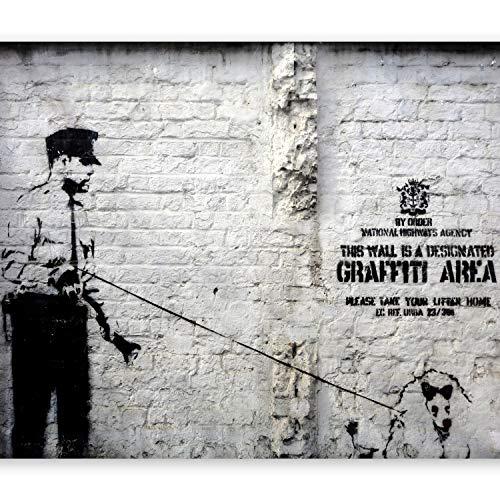 murando Papier peint intissé 350x256 cm Décoration Murale XXL Poster Tableaux Muraux Tapisserie Photo Trompe l'oeil Banksy Graffiti h-A-0042-a-a