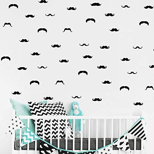 wandaufkleber baumstamm weiß Schnurrbart kleiner Mann für Kinderzimmer Kinderzimmer Jungen Home Decor Wohnzimmer Dekoration