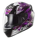 LS2 - mod. FF351 FF352 - Casco integrale per moto, da donna, motivo: disegno ondulato, di colore rosa e viola Small Nero