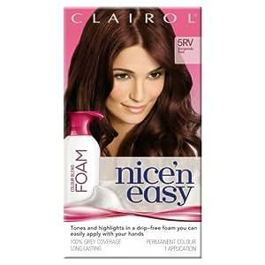 Clairol Nice'n Easy Colour Blend Foam Permanent Hair Dye - Burgundy Red 5RV