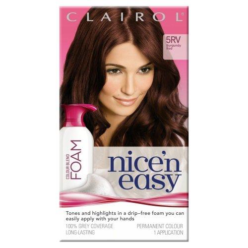 clairol-nicen-easy-colour-blend-foam-permanent-hair-dye-burgundy-red-5rv